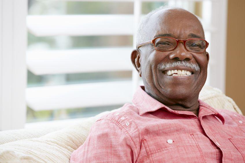 18735864 - portrait of happy senior man at home